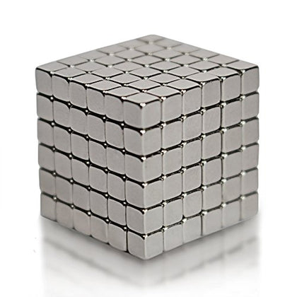 EDC Fidgeter 5mm Magnetic Cube Puzzle Prime Quality Fidget Toys Fidget Cube, 216 Pieces. Ideal Office Stress Relief Executive Desk Toy. Magic Metal Square Fidget Magnets Cool Gadget.
