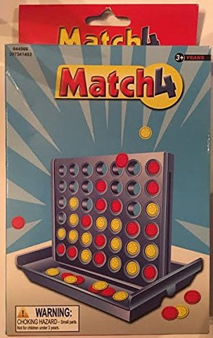 Match4 - Connect 4 Four style Portable Travel Size Vertical Checkers Kids Game