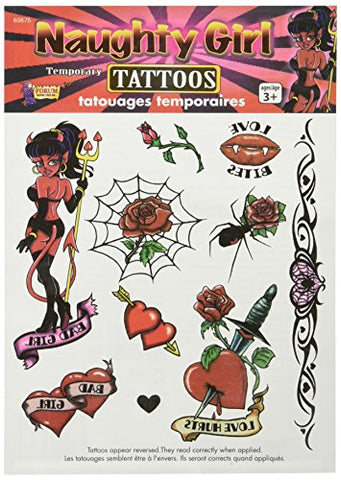 Naughty Girl Temporary Tattoos