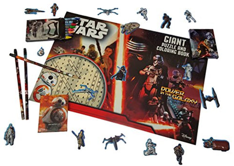 Star Wars Coloring Book. Star Wars The Force Awakens Giant Puzzle and Coloring Book with Star Wars Crayons. Plus Free Bonus Stickers and 3 Pencils.