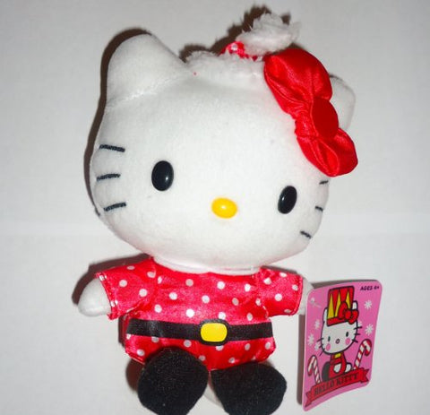 Hello Kitty Santa Claus Holiday 2013 Toy Plush 5 Inch