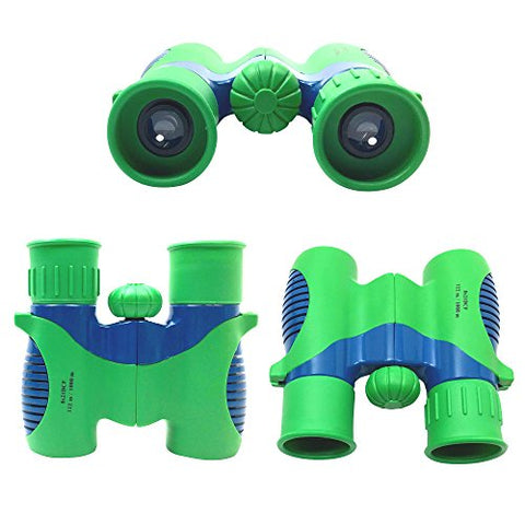 Kids Binoculars Set Shock Proof 8x21 - Bird Watching - Educational Learning - Hunting - Hiking - Birthday Presents - Gifts for Children - Outdoor Play - Durable Toys for Boys and Girls