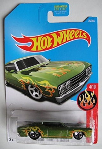 Hot Wheels 2017 HW Flames '69 Ford Torino Talladega 35/365, Green