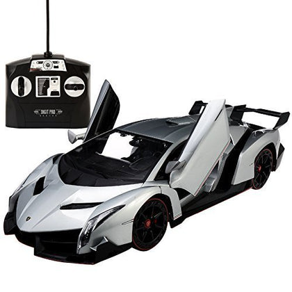 Lamborghini Veneno 1:14 Radio Control RC Vehicle Car Model w/Batteries Included Open Doors (color may vary)