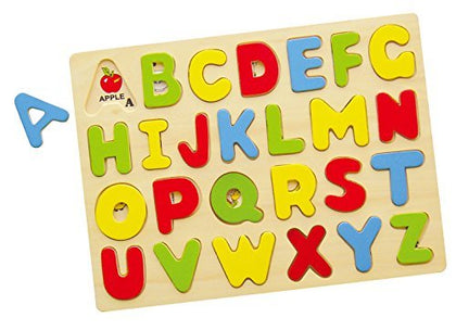 Large Wooden See Inside Alphabet Puzzle/ABC Puzzle, 26-Piece