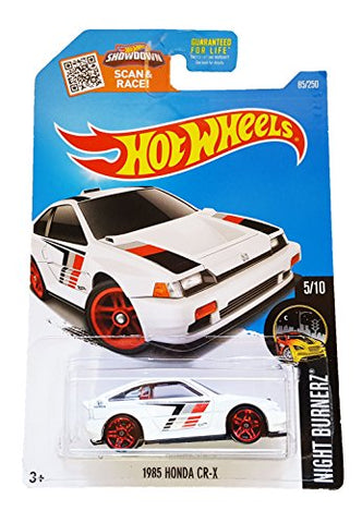 Hot Wheels 2016 Night Burnerz 1985 Honda CR-X 85/250, White