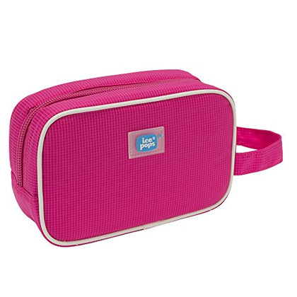Cool-it Caddy Icepops Freeze and Go Cosmetic and Snack Bag, Raspberry,