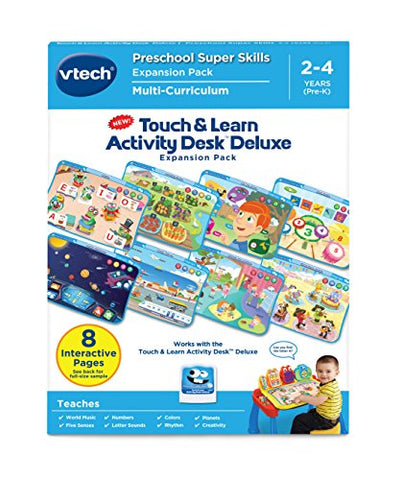 VTech Touch and Learn Activity Desk Deluxe Expansion Pack, Preschool Super Skills