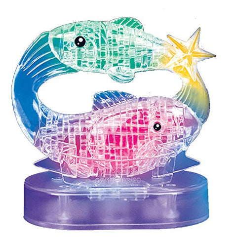Gracesdawn Crystal Twelve Constellations Deluxe 3D Puzzle Colorful Crystal Decoration (Pisces)