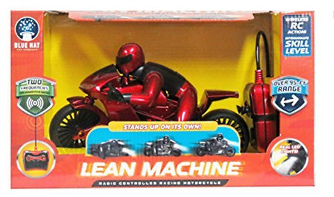 Red Radio Controlled Lean MachineRacing Motorcycle 2 Frequencies