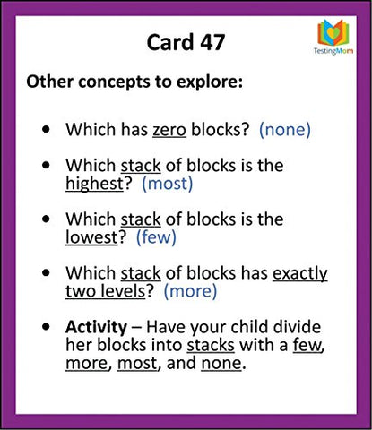 Gifted Testing Flash Cards Verbal Concepts And Vocabulary For Pre K 2nd Grade Kindergarten Educational Toy Practice For CogAT Test OLSAT Test ITBS