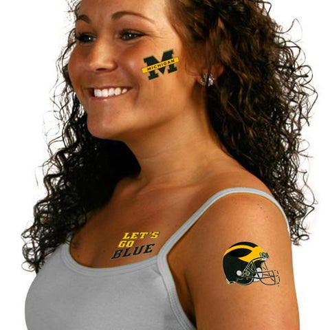 NCAA University of Michigan Tattoos, Black