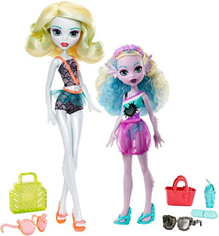 Monster High Monster Family Lagoona Blue and Kelpie Blue Dolls,