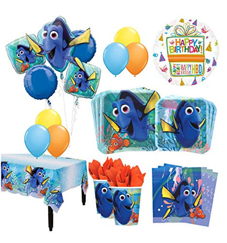 The Ultimate 8 Guest 53pc Finding Dory Birthday Party Supplies and Balloon Decoration Kit