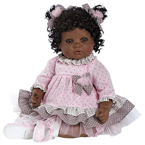 Adora Toddler African American AA Realistic Weighted Girl Doll Gift Set For Children 6+ Huggable Vinyl Cuddly Snuggle Soft Body Toy Curls of Love 20