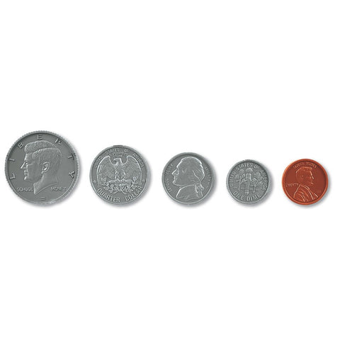 Hand2Mind Assorted Plastic Realistic Coins, Set Of 96 | Play Money | Educational Play | Pretend Play