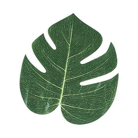 Tropical Leaves 6.24  X Of 12  Monstera Hawaiian Leaves Imitation - Great For Party Decorations Events, Weddings, Luau, Hawaiian, Beach, Jungle Party, Arts And Crafts  By Kidsco