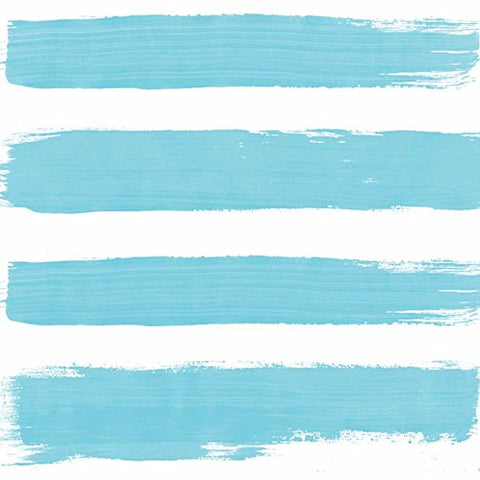 Paperproducts Design 1251853 Beverage/Cocktail Summer Stripes Ocean Paper Napkins , Multicolor