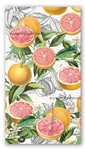Michel Design Works 15-Count 3-Ply Paper Hostess Napkins, Pink Grapefruit