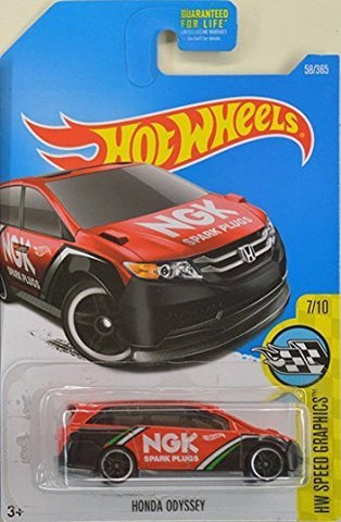 Hot Wheels 2017 HW Speed Graphics Honda Odyssey 58/365, Red