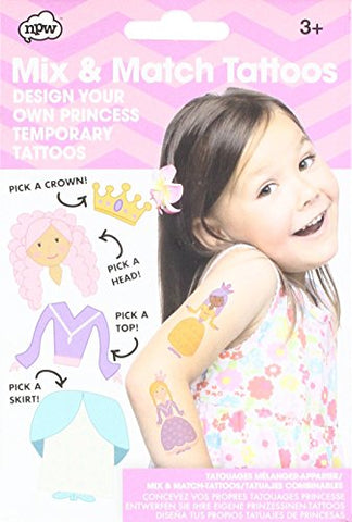 NPW-USA Mix & Match Princess Temporary Tattoos