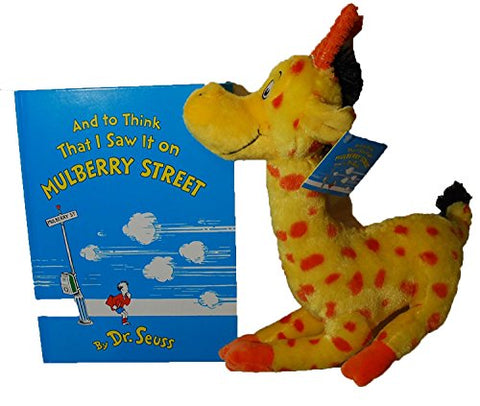 And to think That I saw it on MULBERRY STREET by Dr. Seuss Kohl's Cares (Hardcover Book & Giraffe Plush)