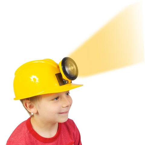Construction Hat - Dress Up For Kids & Adults - Adjustable Miner Hat With Light By Funny Party Hats