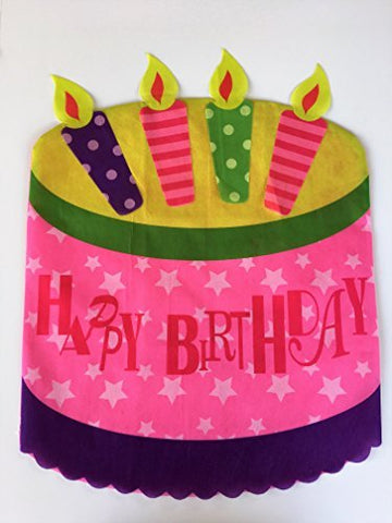 Happy Birthday Chair Cover - Birthday Cake - 19.25 inches x 25.50 inches