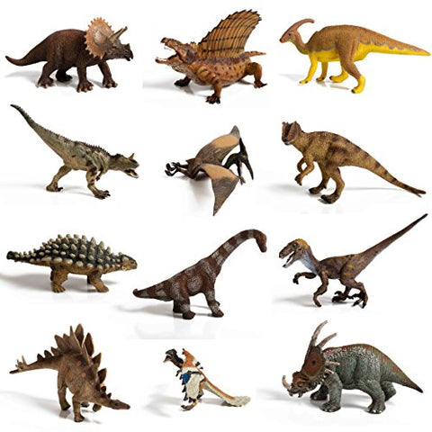 12 piece Large Assorted Dinosaurs highly detailed realistic looking superior quality to last