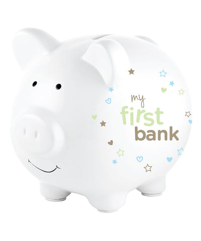 Corexa My First Bank Piggy Bank - Beige With Stars