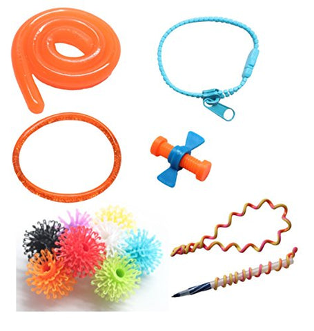 Tiny Fidget Toy Bundle - Small Finger Fidget Set for Students, Adults and Children