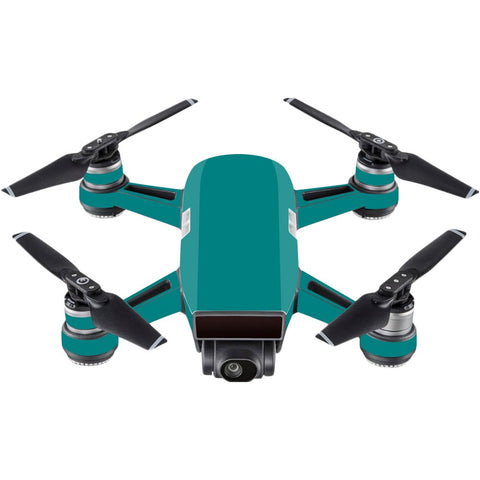 Mightyskins Skin Compatible With Dji Spark Mini - Solid Teal | Protective, Durable, And Unique Vinyl Decal Wrap Cover | Easy To Apply, Remove, And Change Styles | Made In The Usa