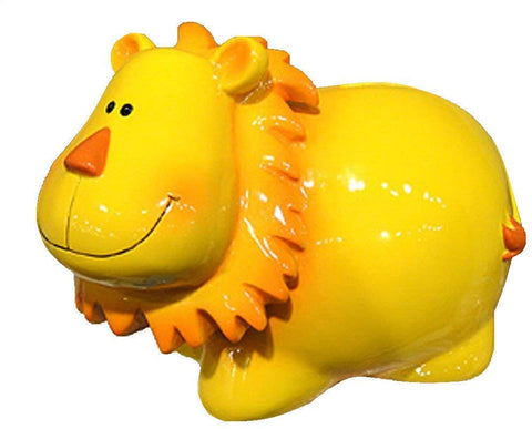 Kingmax Yellow Lion Coin Piggy Bank Resin 79219 7.5 Inches