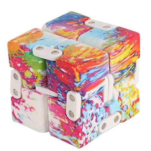Infinity Cube Pressure Reduction Toy - Infinity Turn Spin Cube Edc Fidgeting - Killing Time Toys Infinite Cube For ADD, ADHD, Anxiety, and Autism Adult and Children