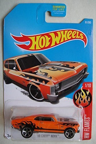 Hot Wheels, 2017 HW Flames, '68 Chevy Nova [Orange] 61/365