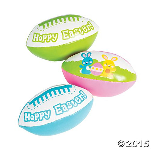 Hoppy Easter Foam Footballs