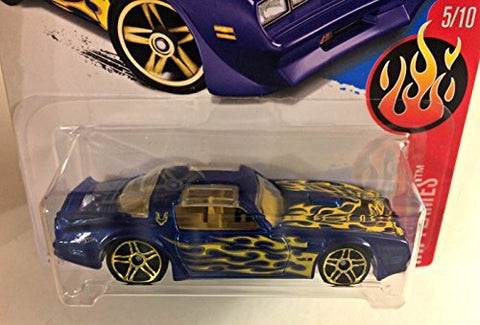 Hot Wheels 2017 HW Flames '77 Pontiac Firebird 13/365, Blue