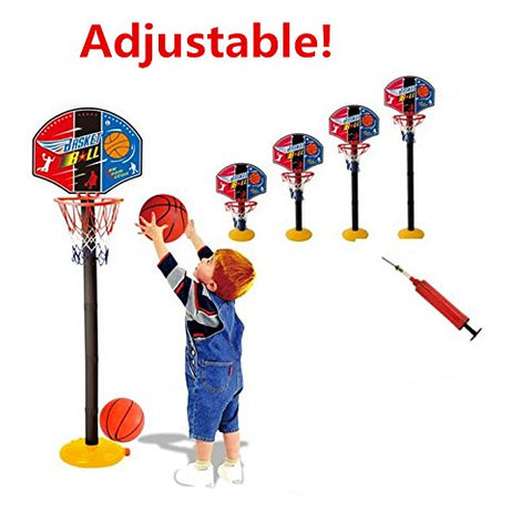 Elloapic Mini Adjustable Basketball Hoop Elevated Type Basketball stand Basketball Game Sports Toy- Indoor Outdoor Fun Sports Novelty Toy With one basketball and one inflator