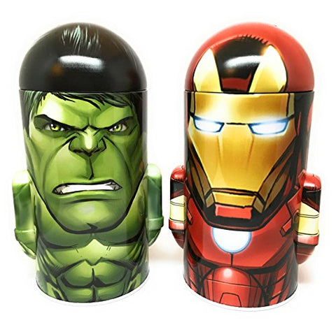 Marvel Comics Avengers Assemble Iron Man and Incredible Hulk Steel Coin Banks (Total of 2 Banks)