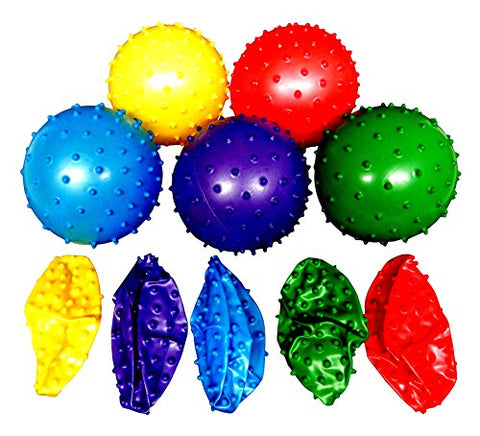 50 Knobby Balls 5 Colors 4  Childrens Party Favor Toy 10 of Each Color