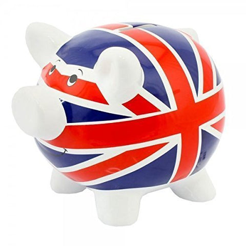Piggy Bank/Money Pig ~ Savings ~ UNION JACK
