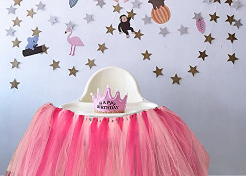 1st Birthday Girl Baby Tutu For High Chair Decoration And One