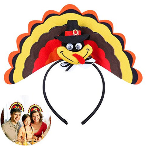 Turkey Headband Head Hoop for Thanksgiving Day Costume Party Accessory by TINKSKY