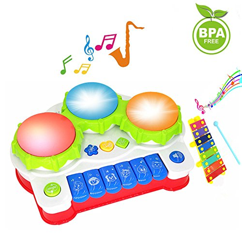 Baby Drums Piano Music Toys Keyboard Toddler Musical Instrument, Enhance  Your Child's Hearing and Creativity, Best Birthday Festival Gift - with  Mini