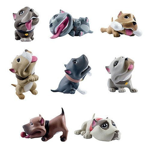 8 Homies Bullyz Complete Set Collectible Pit Bull Dog All Figures Series 1 Pitbull Canine Puppies Figurines Bullys Bog Lot