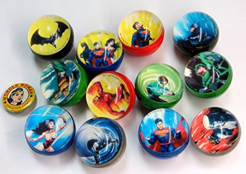 DC Comics Super Hero High Bounce Balls with Collector's Pin
