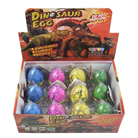 Hatching Dino Dinosaur Dragon Hatch-Grow Eggs Large Size,colorful crack by Yeelan