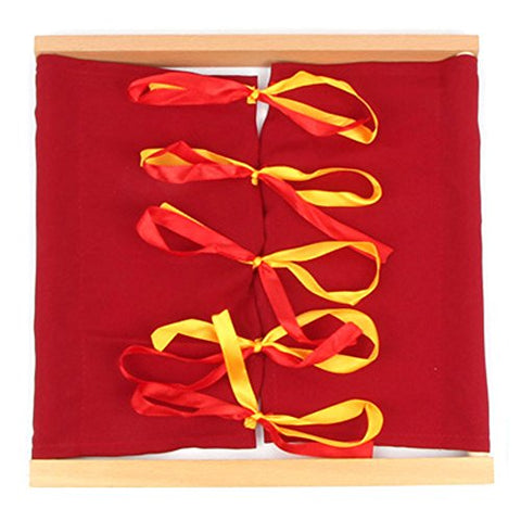 StarMall Montessori Learn to Bow Tying Closure Dressing Frame Manipulatives