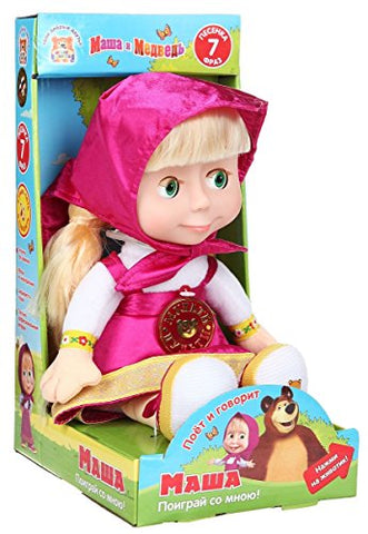 Masha and the bear Soft Russian Speaking toy Masha 12  (Gift Edition)