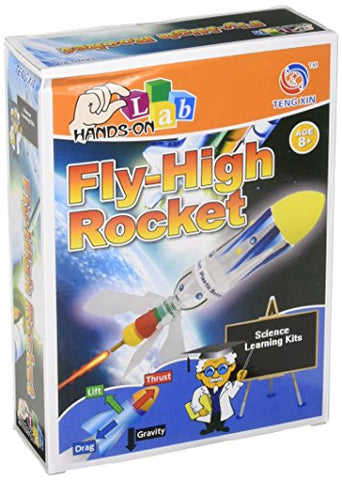 Fly High Rocket Science Kit | Scientific Learning and Exploration Experiment | Air Pressure, Water Powered Design | Girls and Boys
